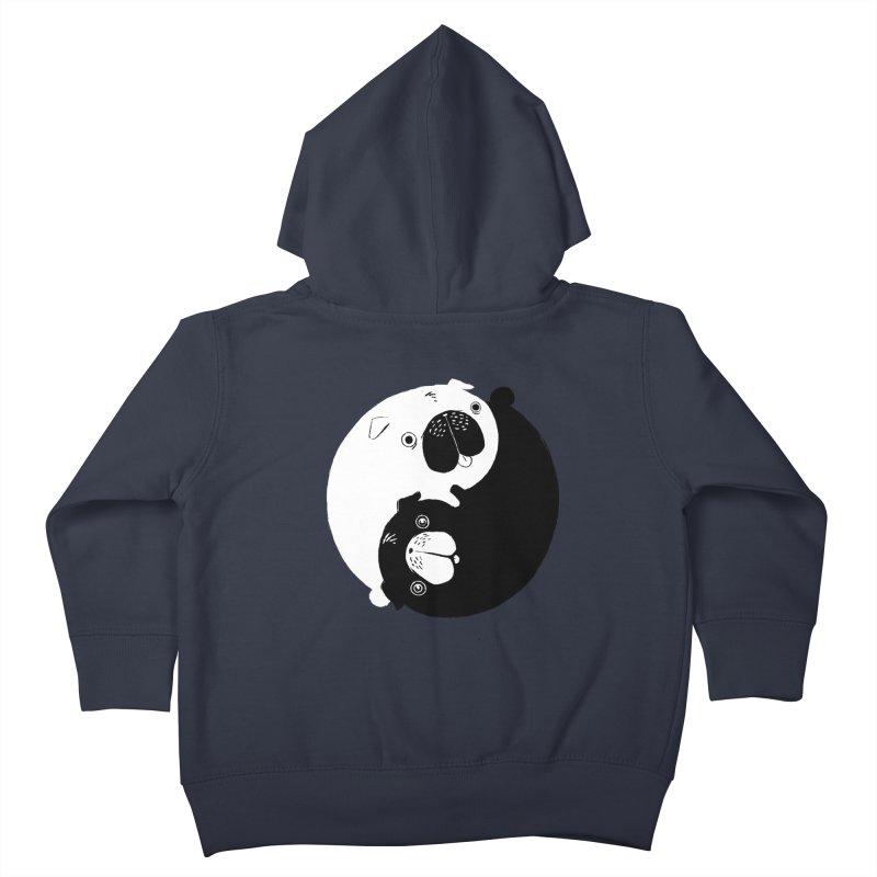 Yin Yang Pugs Kids Toddler Zip-Up Hoody by Stuff, By Alan Bao