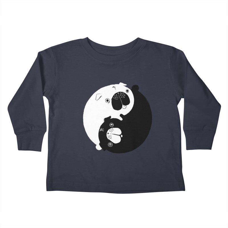 Yin Yang Pugs Kids Toddler Longsleeve T-Shirt by Stuff, By Alan Bao