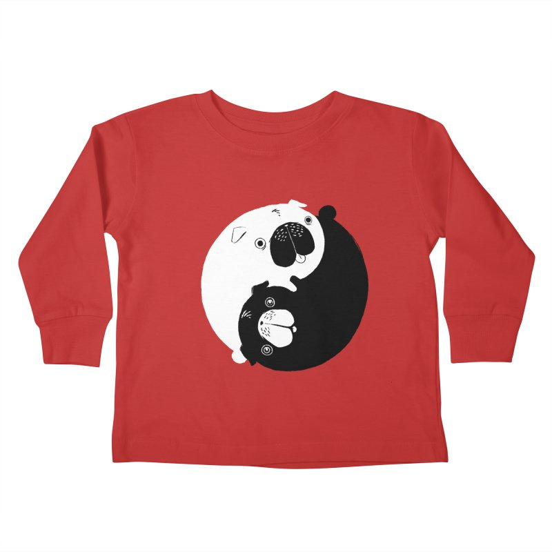 Yin Yang Pugs Kids Toddler Longsleeve T-Shirt by Stuff, By Alan Bao