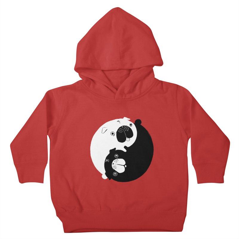 Yin Yang Pugs Kids Toddler Pullover Hoody by Stuff, By Alan Bao