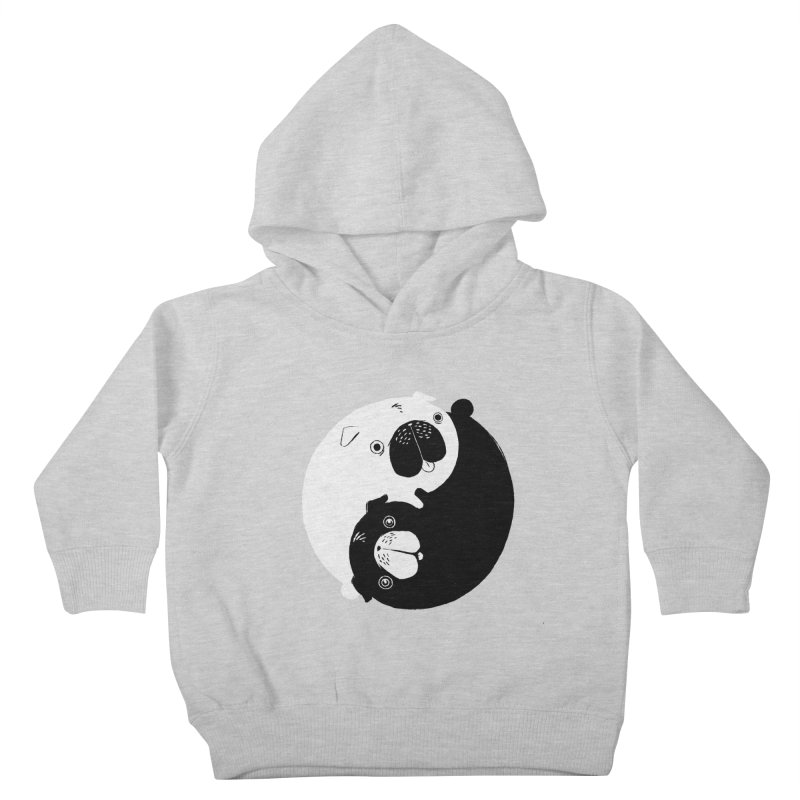 Yin Yang Pugs Kids Toddler Pullover Hoody by Stuff, By Alan Bao