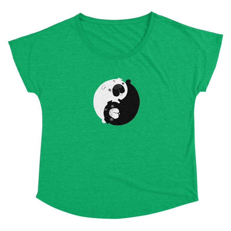 Yin Yang Pugs Women's Dolman by Stuff, By Alan Bao