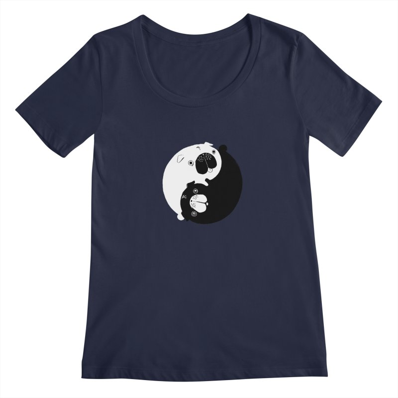 Yin Yang Pugs Women's Scoopneck by Stuff, By Alan Bao