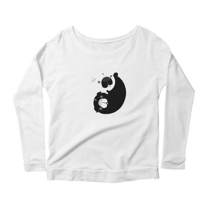 Yin Yang Pugs Women's Longsleeve Scoopneck  by Stuff, By Alan Bao
