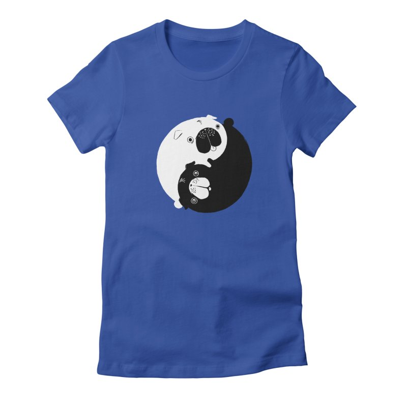 Yin Yang Pugs Women's Fitted T-Shirt by Stuff, By Alan Bao