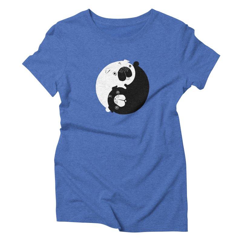 Yin Yang Pugs Women's Triblend T-Shirt by Stuff, By Alan Bao
