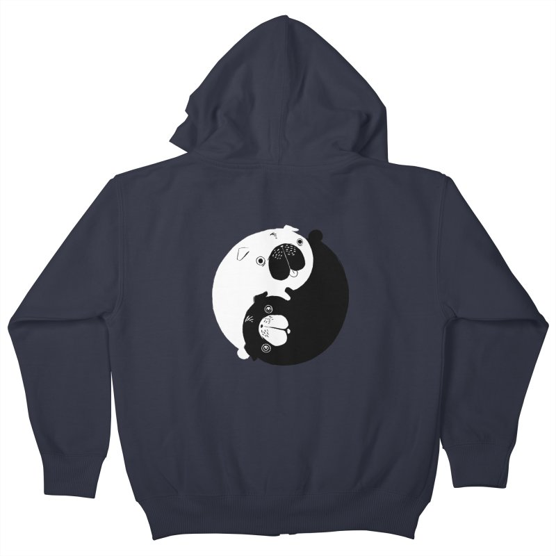 Yin Yang Pugs Kids Zip-Up Hoody by Stuff, By Alan Bao
