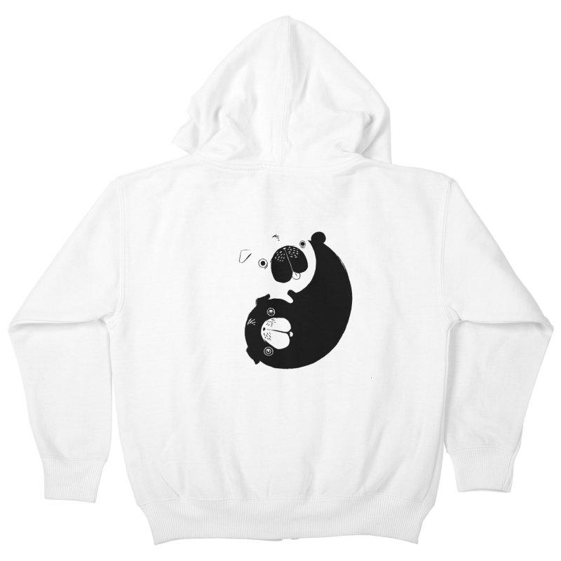 Yin Yang Pugs Kids Zip-Up Hoody by Stuff, By Alan Bao