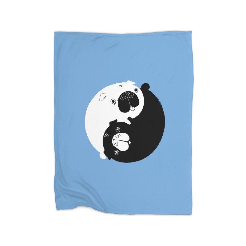 Yin Yang Pugs Home Blanket by Stuff, By Alan Bao
