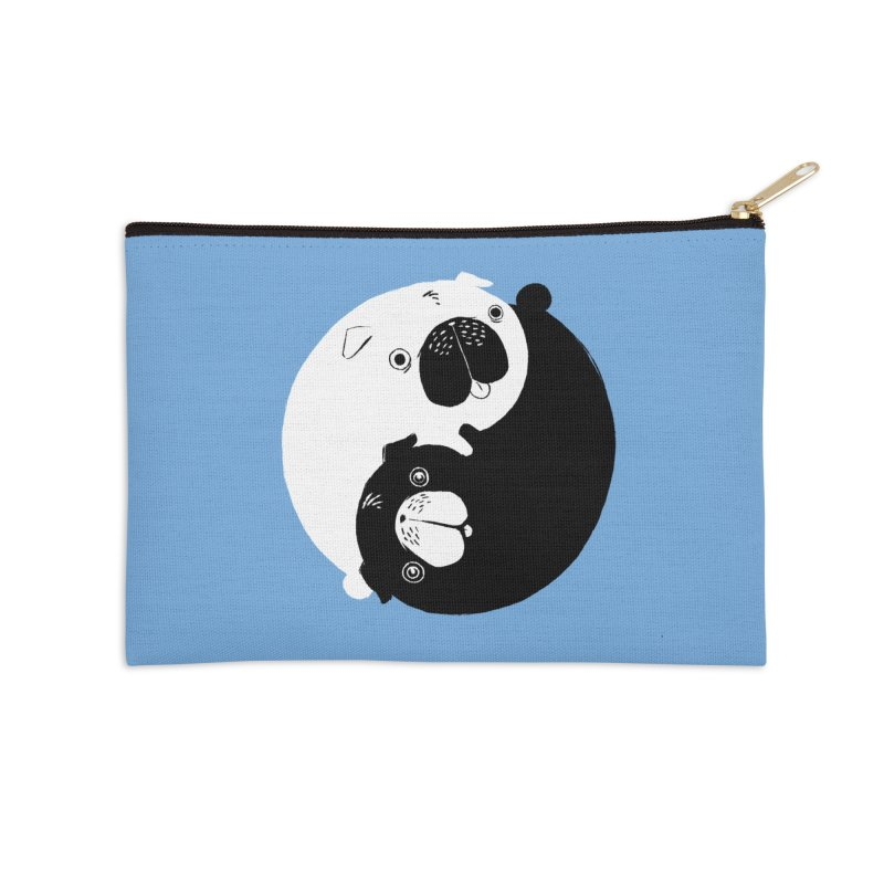 Yin Yang Pugs Accessories Zip Pouch by Stuff, By Alan Bao
