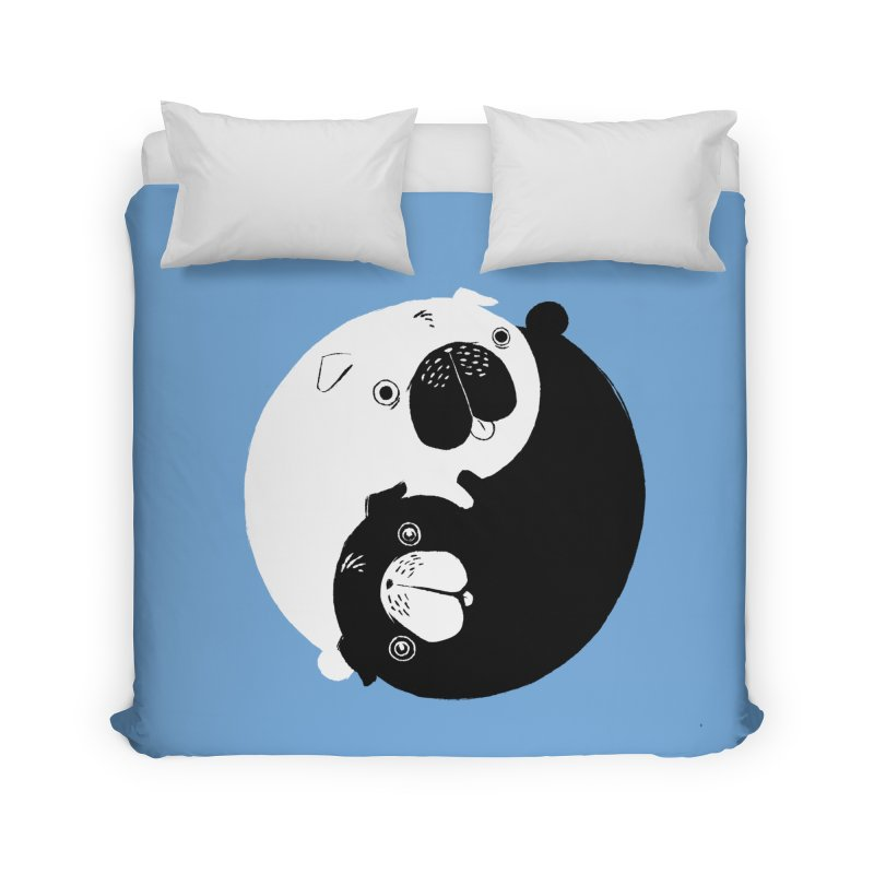 Yin Yang Pugs Home Duvet by Stuff, By Alan Bao