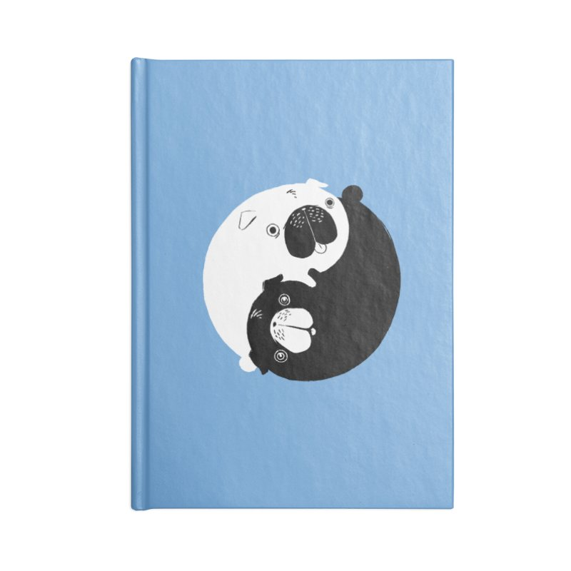 Yin Yang Pugs Accessories Notebook by Stuff, By Alan Bao