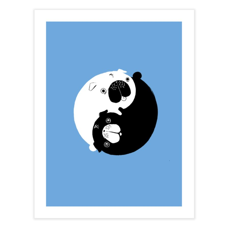 Yin Yang Pugs Home Fine Art Print by Stuff, By Alan Bao