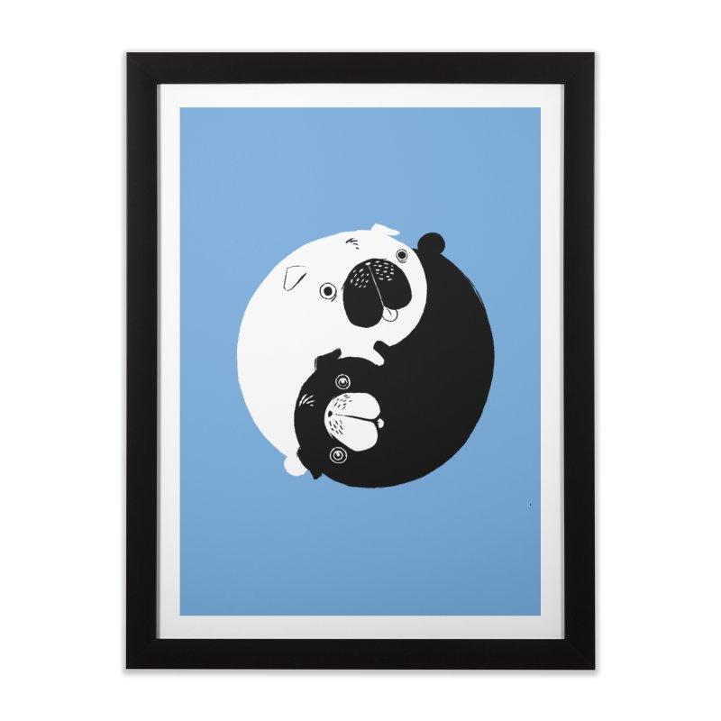 Yin Yang Pugs Home Framed Fine Art Print by Stuff, By Alan Bao