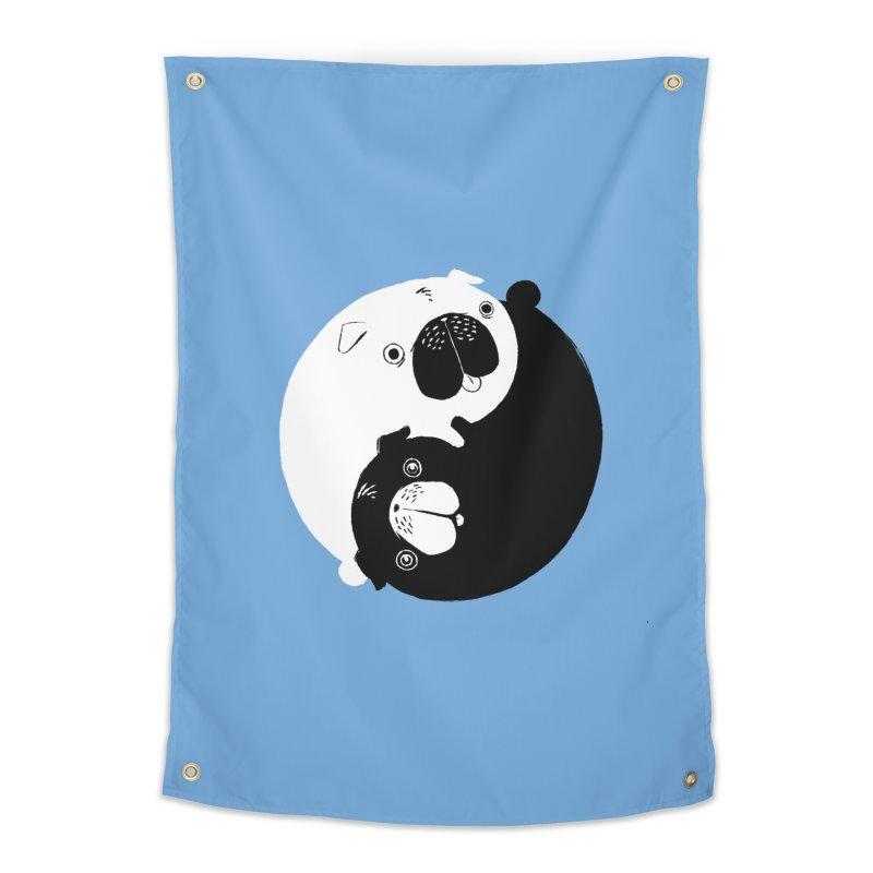 Yin Yang Pugs Home Tapestry by Stuff, By Alan Bao