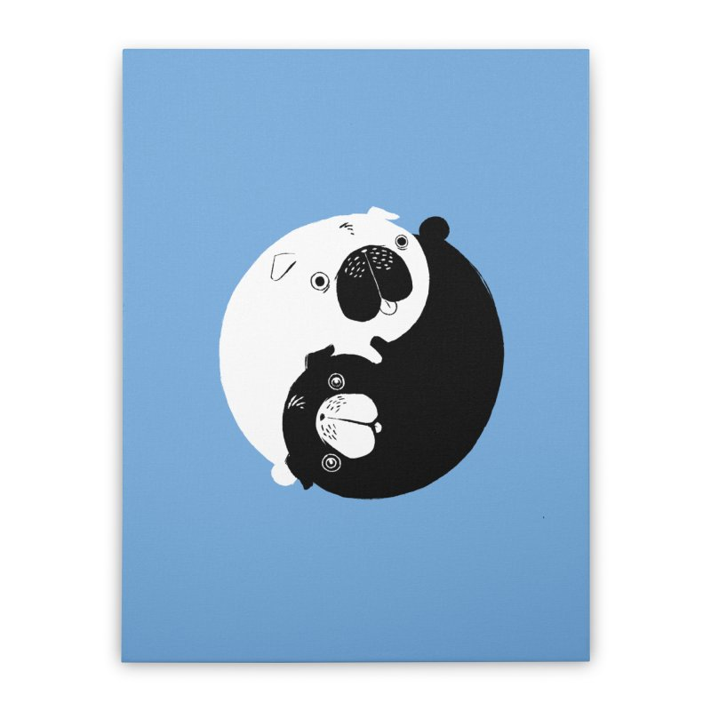 Yin Yang Pugs Home Stretched Canvas by Stuff, By Alan Bao