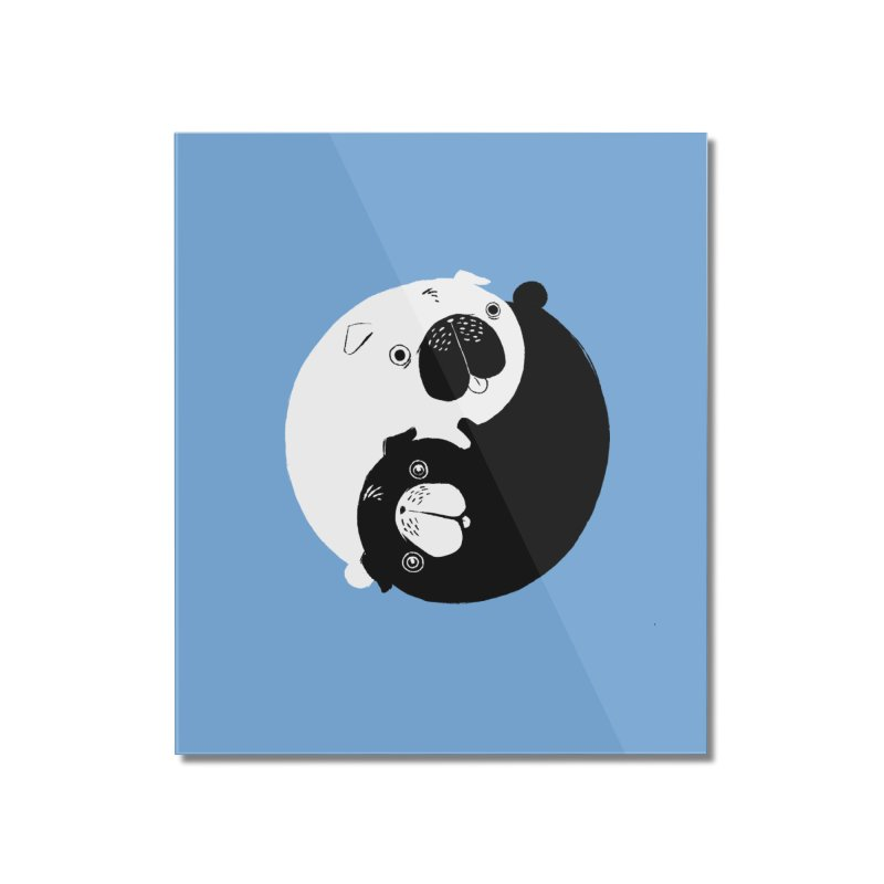 Yin Yang Pugs Home Mounted Acrylic Print by Stuff, By Alan Bao