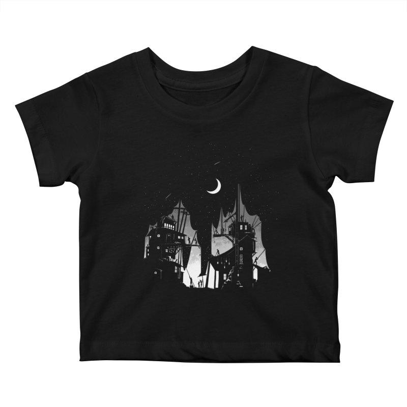 Nightfall Kids Baby T-Shirt by Stuff, By Alan Bao