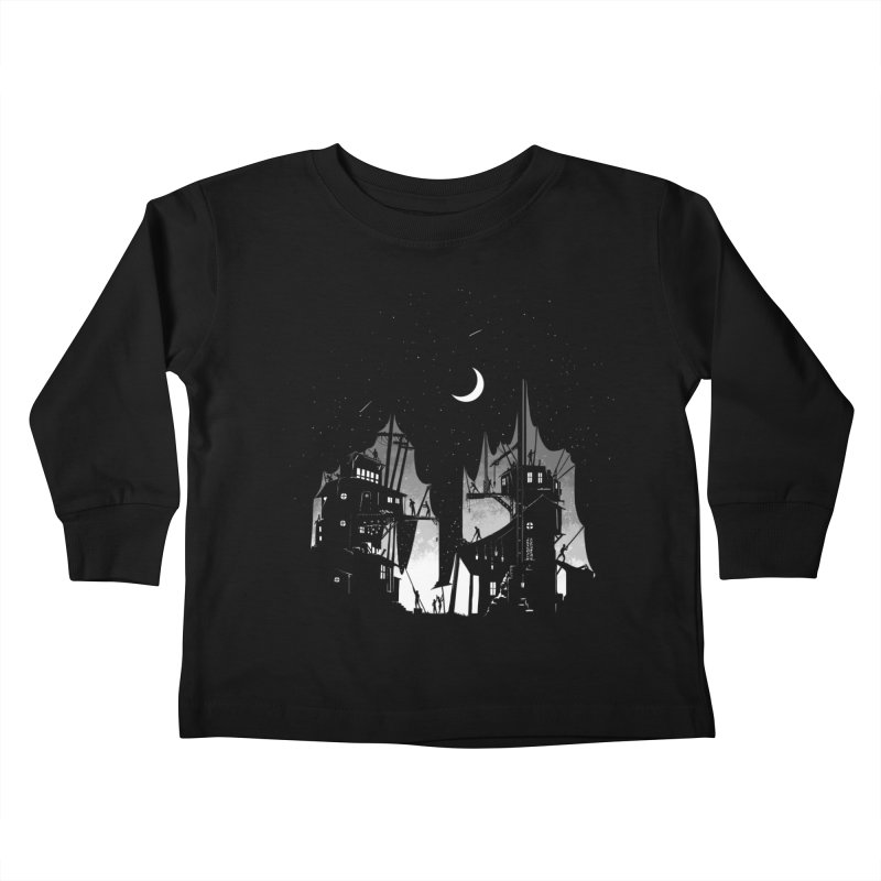 Nightfall Kids Toddler Longsleeve T-Shirt by Stuff, By Alan Bao