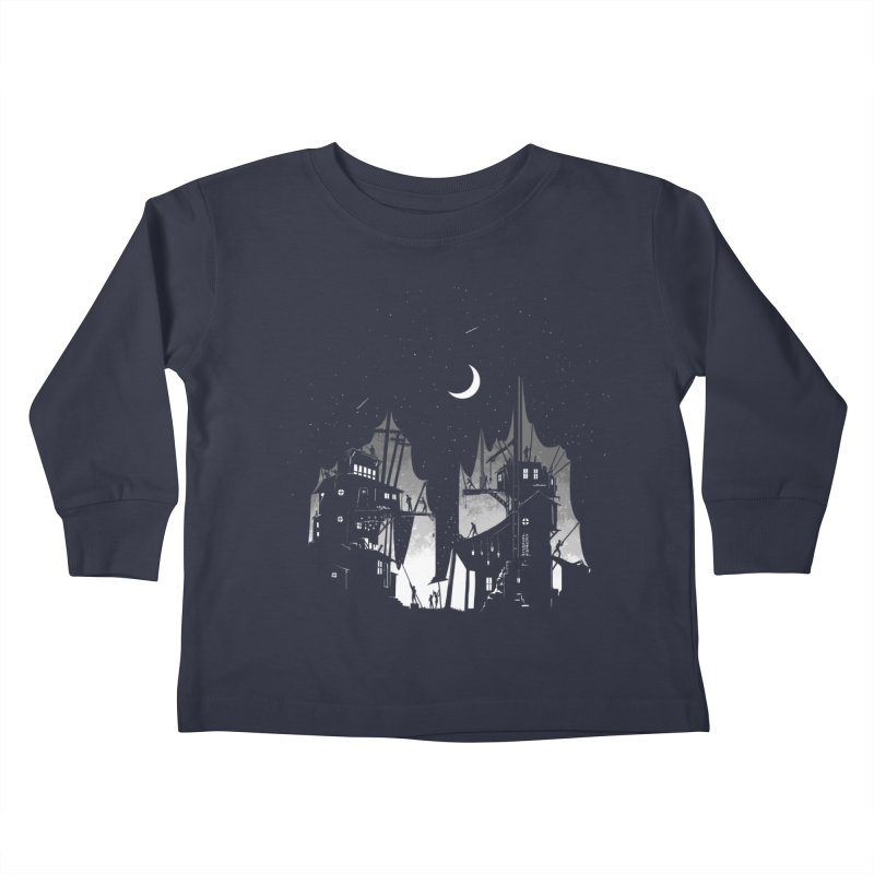 Nightfall Kids Toddler Longsleeve T-Shirt by Stuff, By Alan Bao