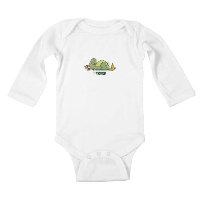 T-Wrecked Kids Baby Longsleeve Bodysuit by Stuff, By Alan Bao