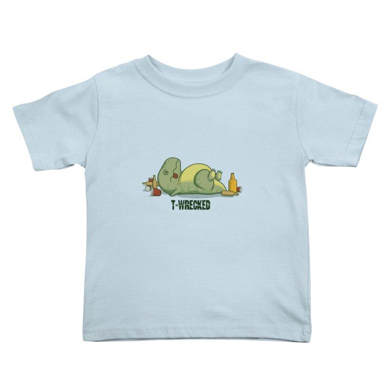 T-Wrecked Kids Toddler T-Shirt by Stuff, By Alan Bao