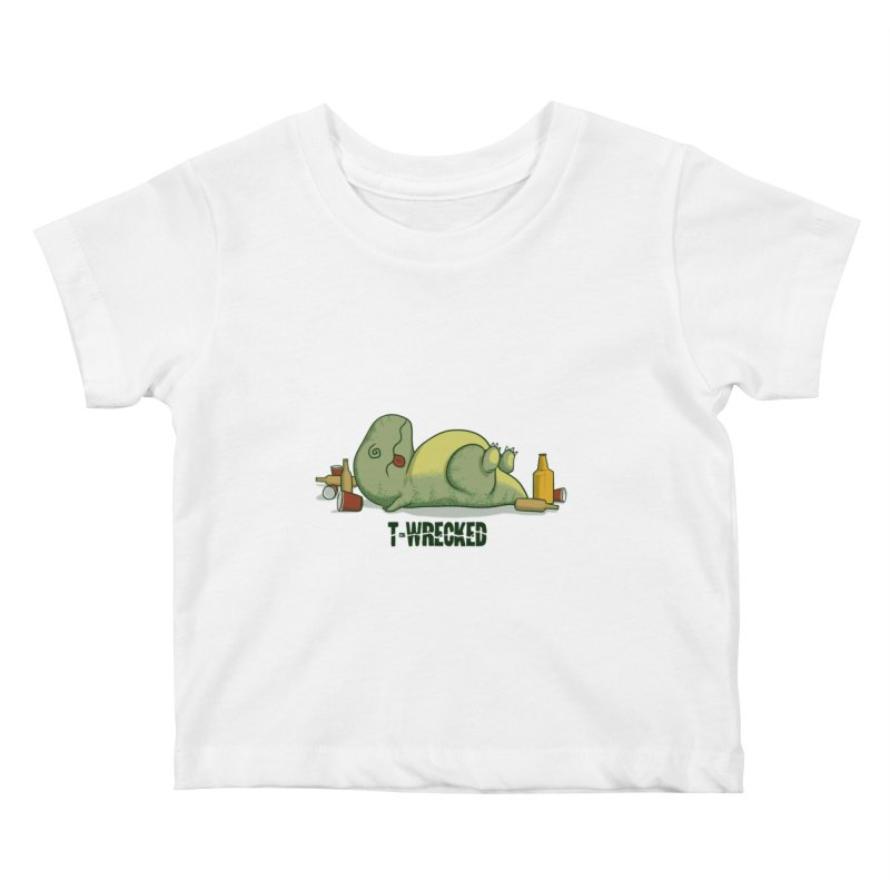 T-Wrecked Kids Baby T-Shirt by Stuff, By Alan Bao