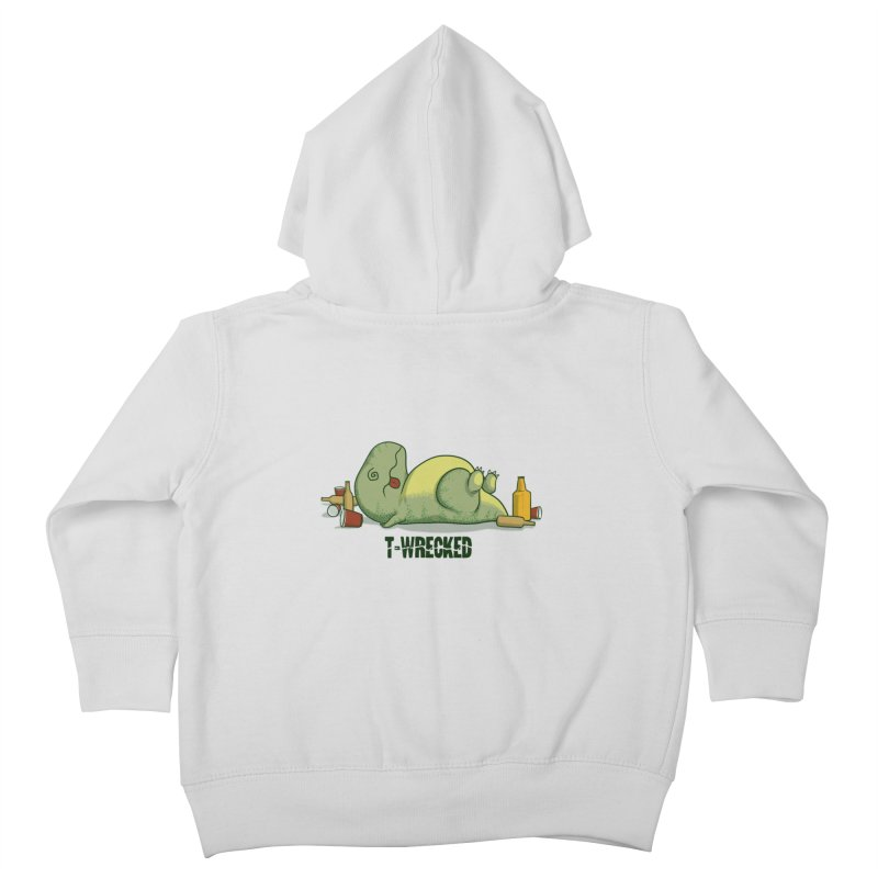 T-Wrecked Kids Toddler Zip-Up Hoody by Stuff, By Alan Bao