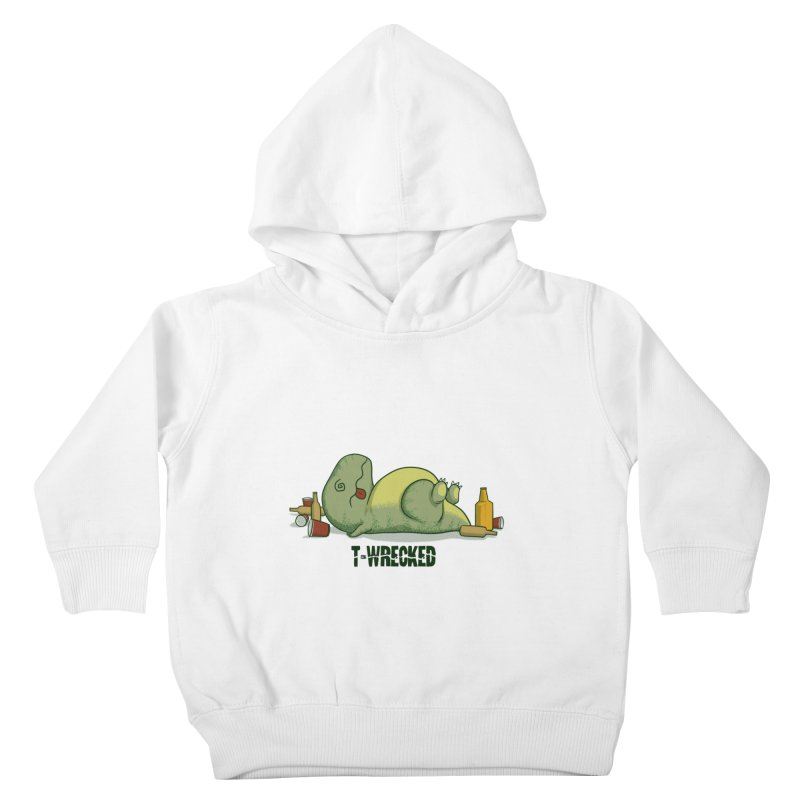 T-Wrecked Kids Toddler Pullover Hoody by Stuff, By Alan Bao