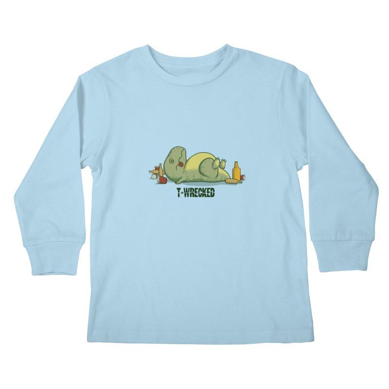 T-Wrecked Kids Longsleeve T-Shirt by Stuff, By Alan Bao