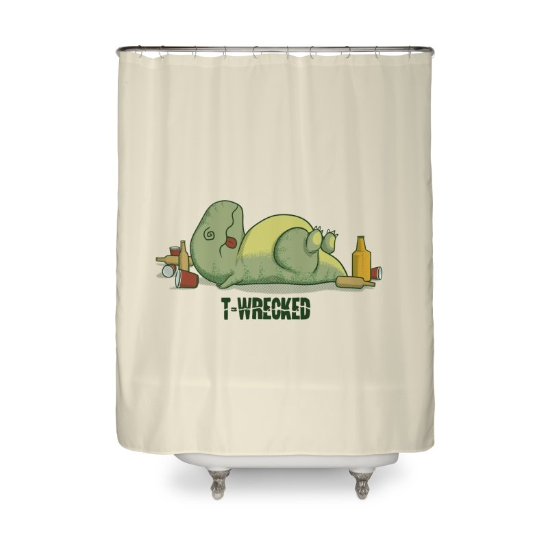 T-Wrecked Home Shower Curtain by Stuff, By Alan Bao
