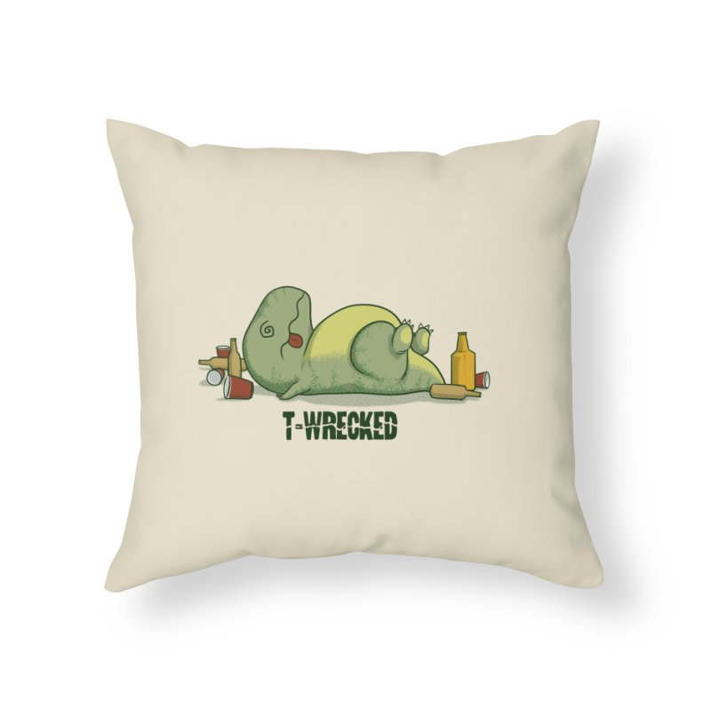 T-Wrecked Home Throw Pillow by Stuff, By Alan Bao