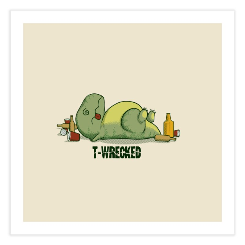 T-Wrecked Home Fine Art Print by Stuff, By Alan Bao
