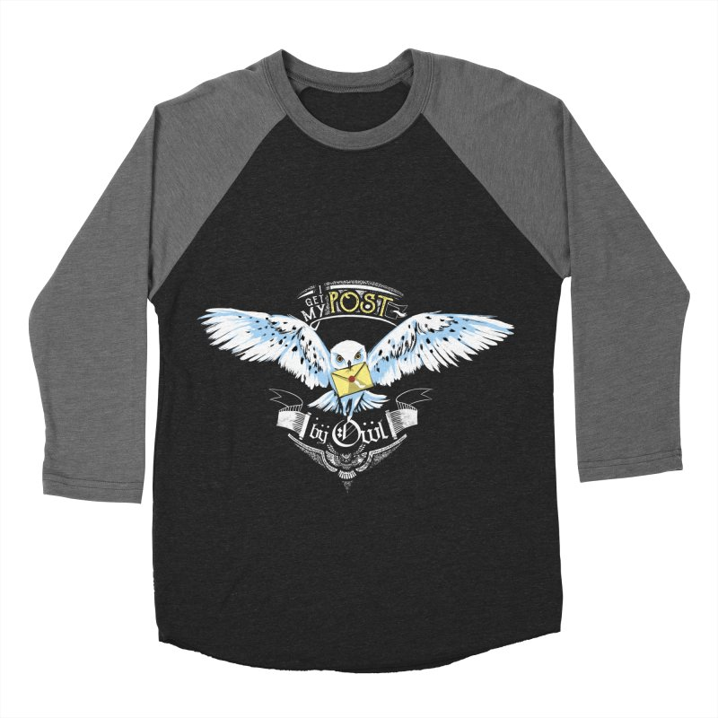 Owl Post Men's Baseball Triblend T-Shirt by Stuff, By Alan Bao