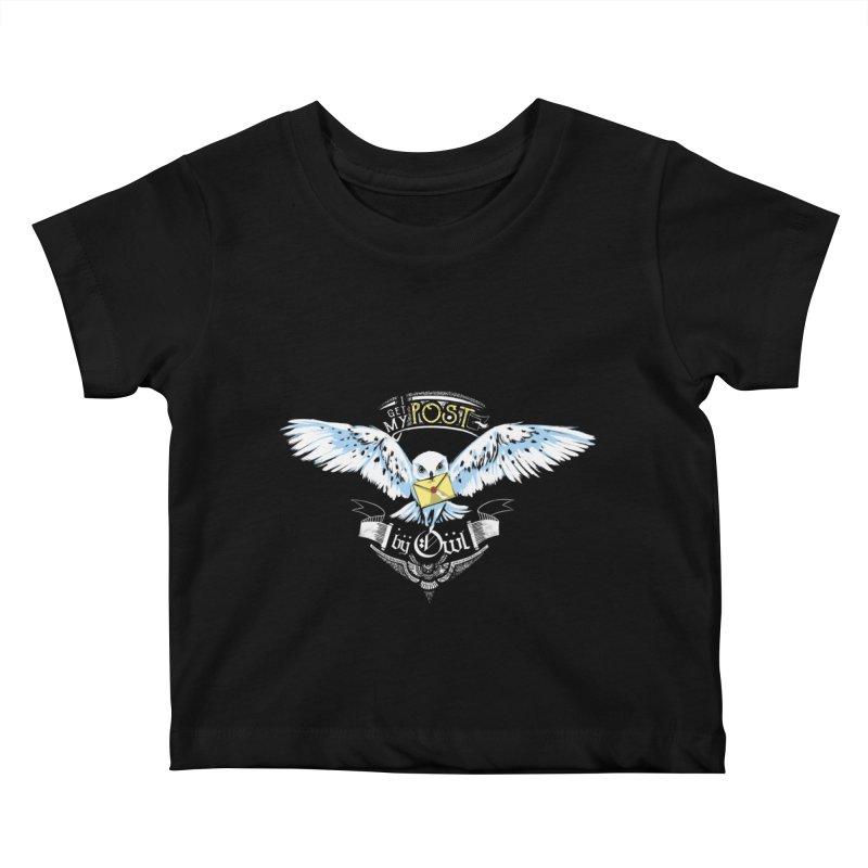 Owl Post Kids Baby T-Shirt by Stuff, By Alan Bao