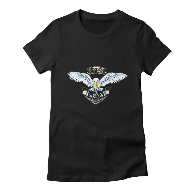 Owl Post Women's Fitted T-Shirt by Stuff, By Alan Bao