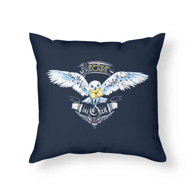 Owl Post Home Throw Pillow by Stuff, By Alan Bao