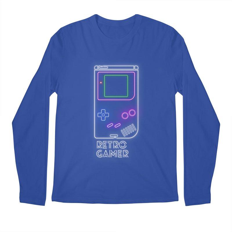Retro Gamer Men's Longsleeve T-Shirt by Stuff, By Alan Bao