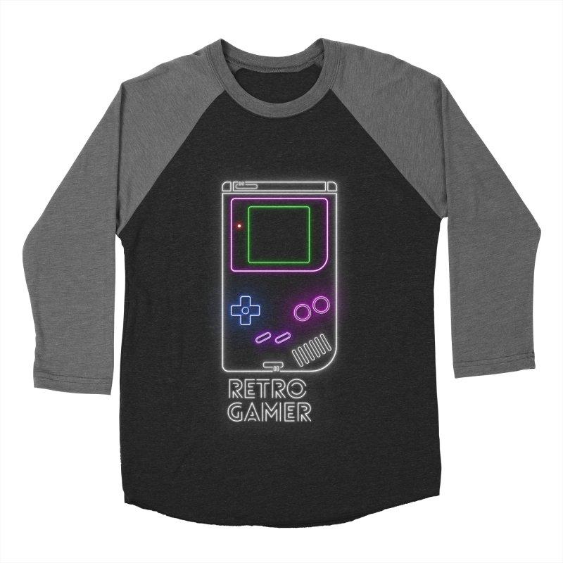 Retro Gamer Women's Baseball Triblend T-Shirt by Stuff, By Alan Bao