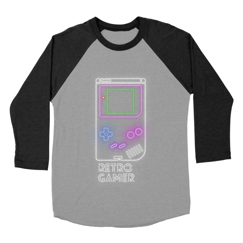 Retro Gamer Women's Baseball Triblend T-Shirt by Stuff, By Alan Bao