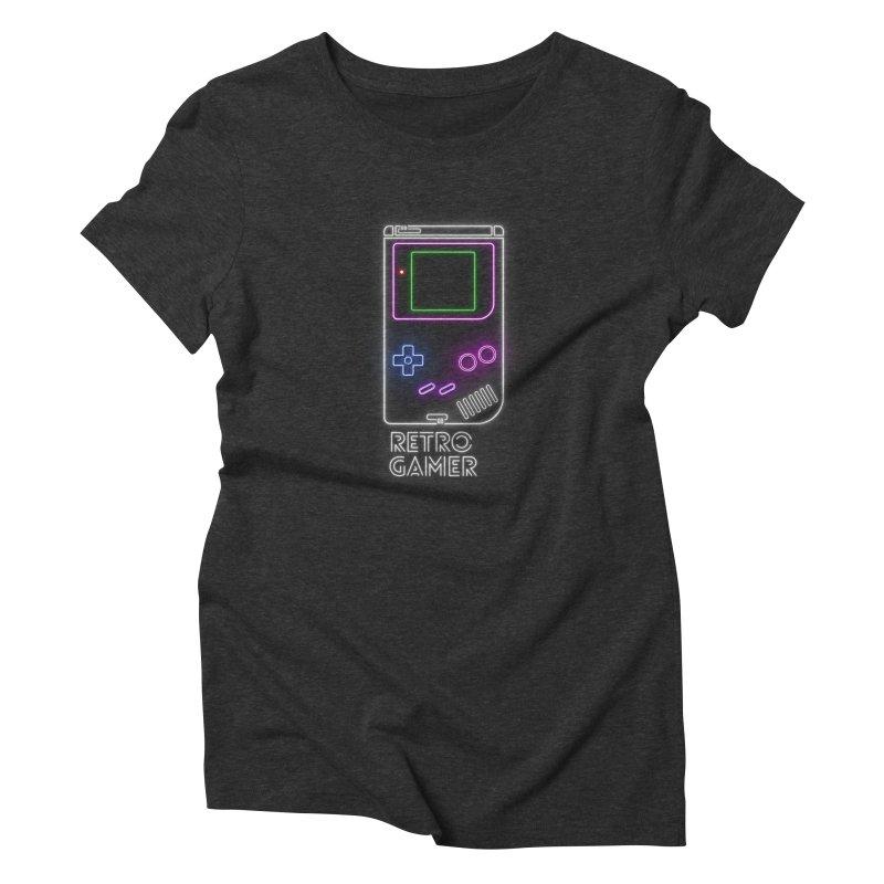 Retro Gamer Women's Triblend T-Shirt by Stuff, By Alan Bao