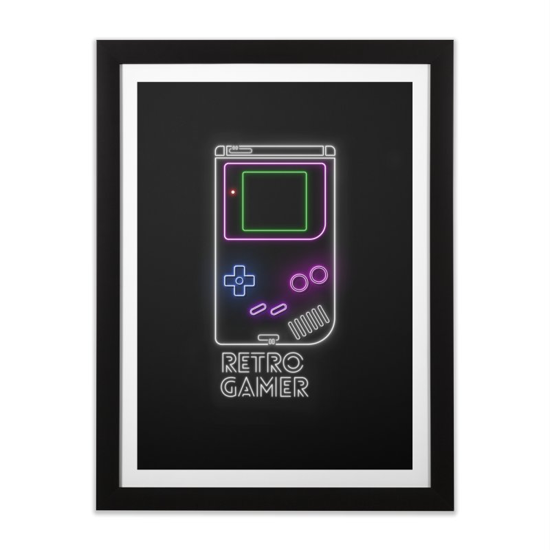 Retro Gamer Home Framed Fine Art Print by Stuff, By Alan Bao