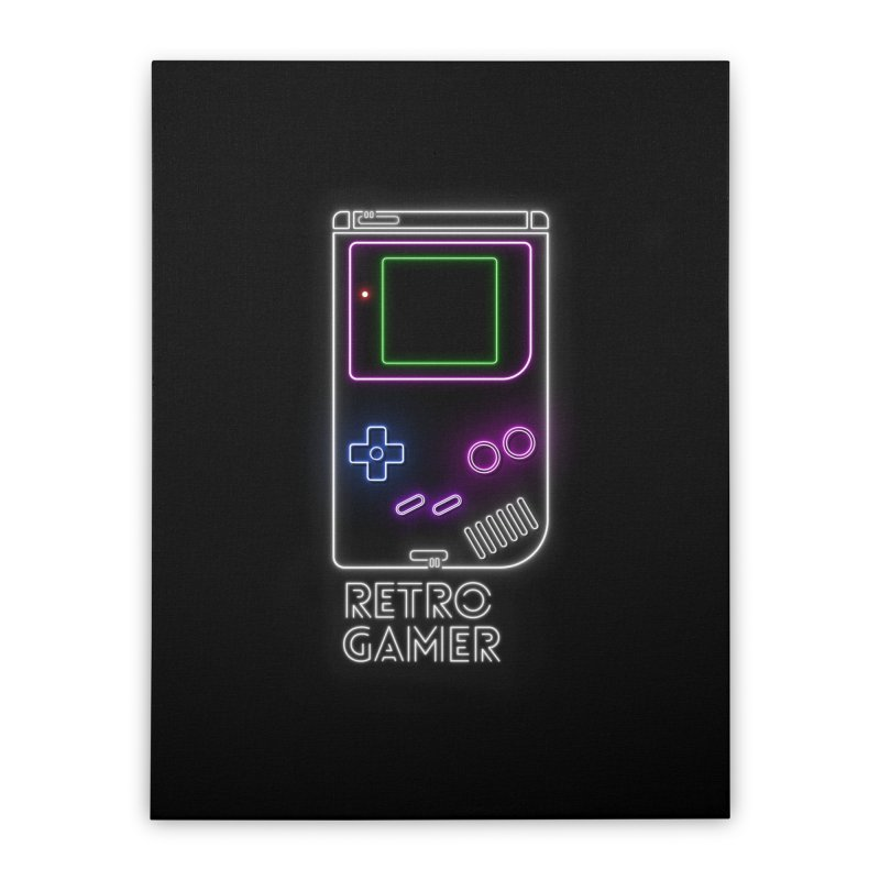Retro Gamer Home Stretched Canvas by Stuff, By Alan Bao
