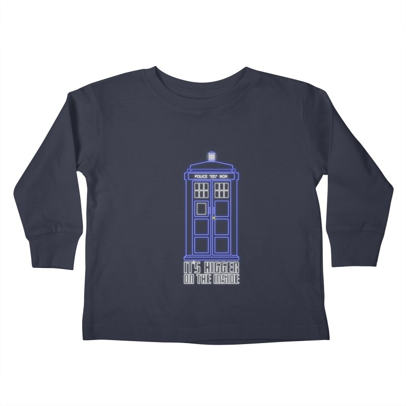 It's Bigger On The Inside Kids Toddler Longsleeve T-Shirt by Stuff, By Alan Bao