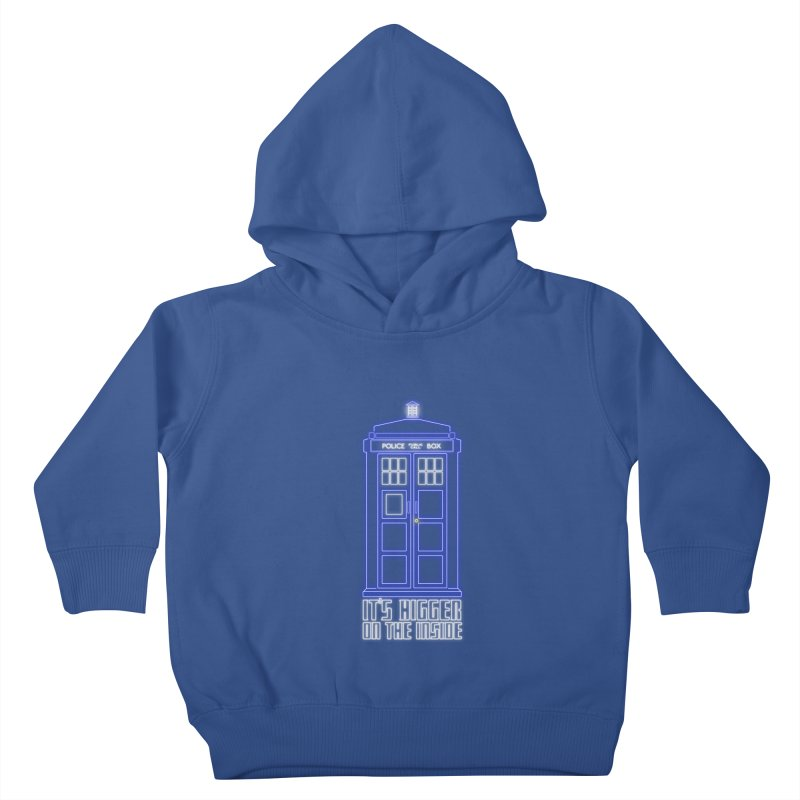 It's Bigger On The Inside Kids Toddler Pullover Hoody by Stuff, By Alan Bao