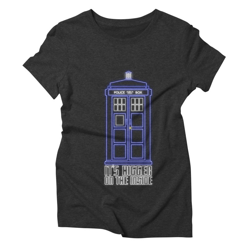 It's Bigger On The Inside Women's Triblend T-shirt by Stuff, By Alan Bao