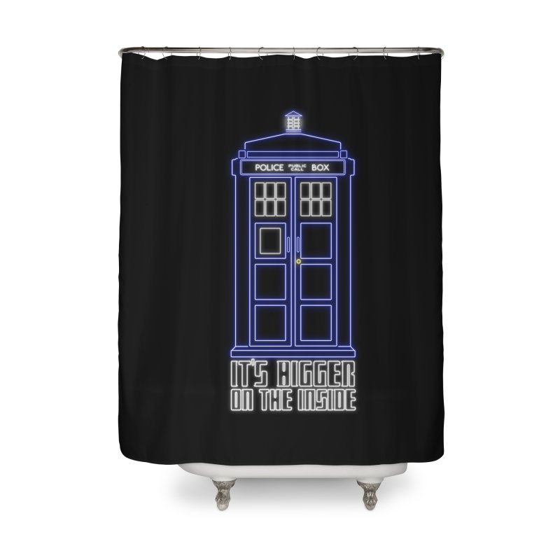 It's Bigger On The Inside Home Shower Curtain by Stuff, By Alan Bao