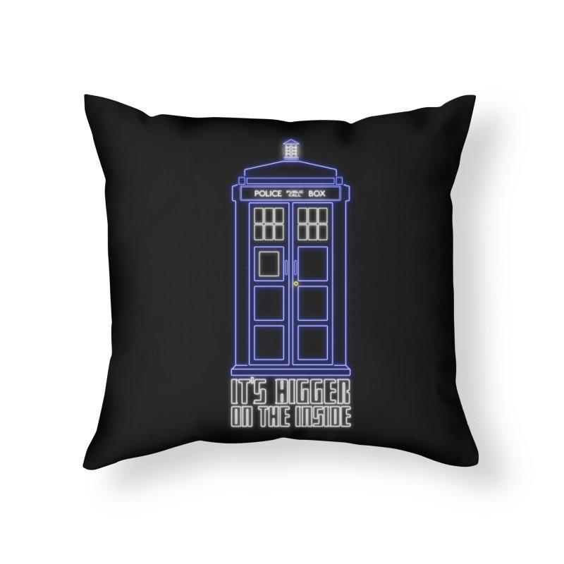 It's Bigger On The Inside Home Throw Pillow by Stuff, By Alan Bao