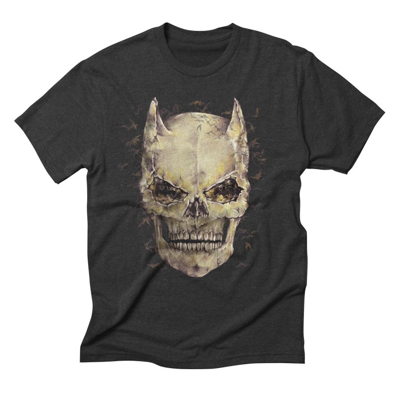 Bat Skull Men's Triblend T-shirt by alanmaia's Artist Shop