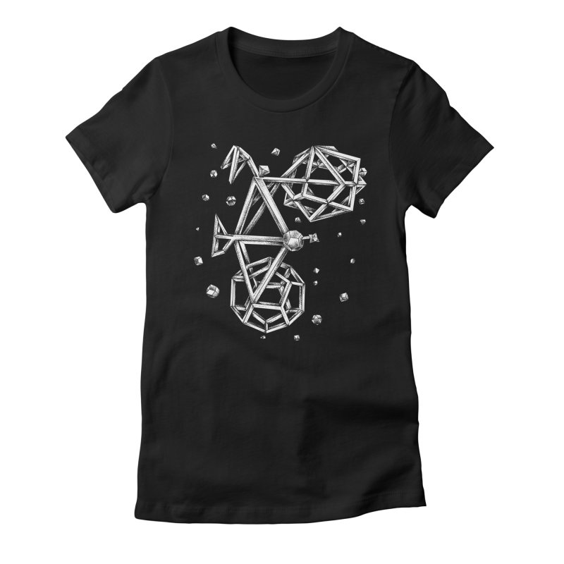 Stars Women's Fitted T-Shirt by alanmaia's Artist Shop